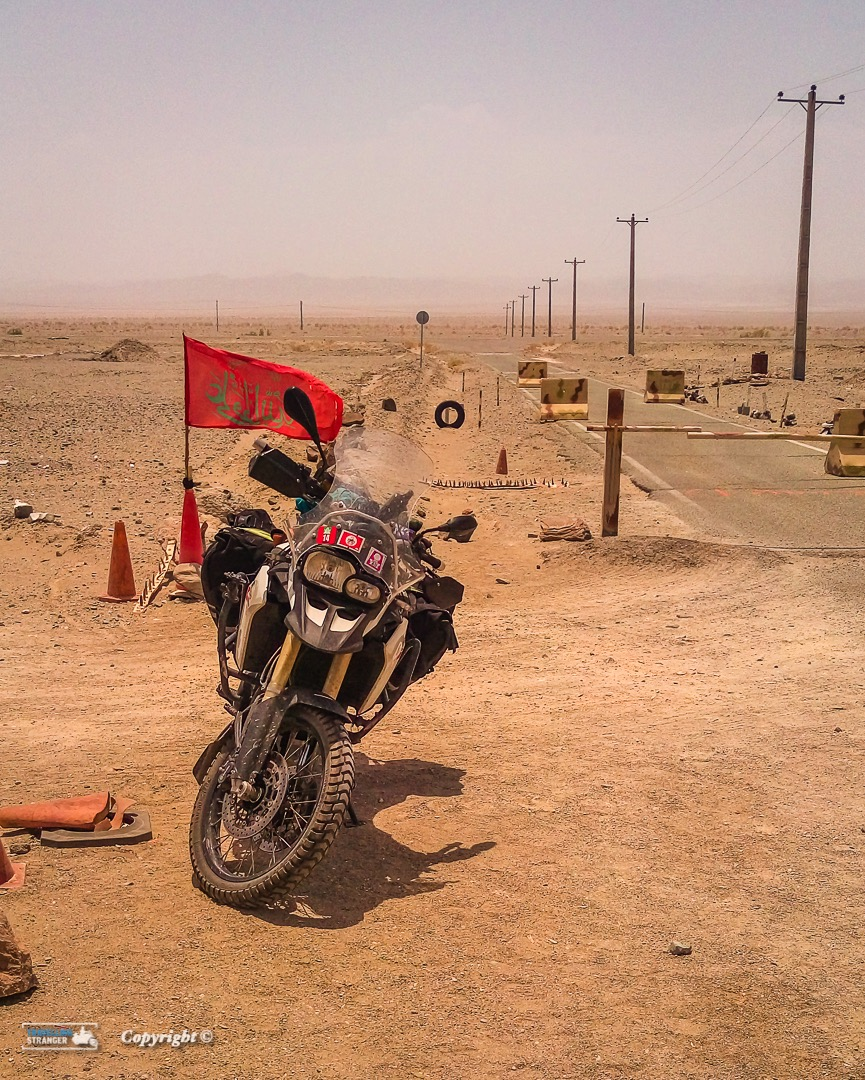 Military Check point, one of several before the Pakistani border